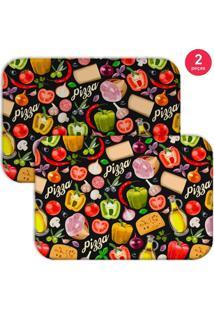 Jogo Americano Love Decor Premium Pizza Colorido