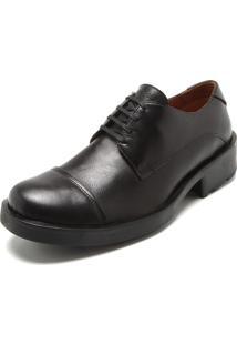 Sapato Couro Ellus Cadarço Preto