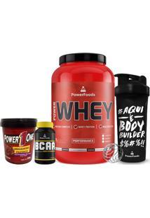 Kit Power Whey Pote + Powerbcaa + Brigadeiro Proteico + Coqueteleira - Masculino