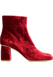 Red Valentino Redvalentino Low-Heel Ankle Boots - Vermelho
