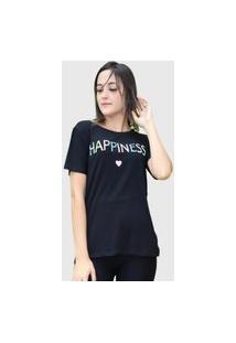 Camiseta Happiness Preta D Bell