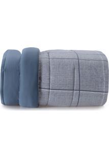 Edredom Casal Altenburg Essence 200 Fios 100% Algodão Blue Liv - Azul Azul
