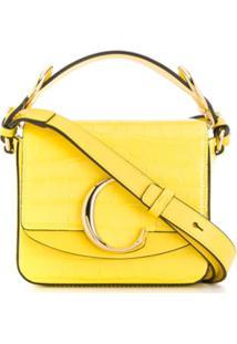 Chloé Bolsa Transversal Mini Com Logo - Amarelo