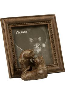 Porta-Retratos De Resina Decorativo Gatos Vallentine