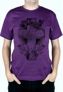 Camiseta Bleed American Faith Roxo