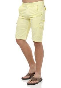 Bermuda Jeans Masculina Gangster Amarelo