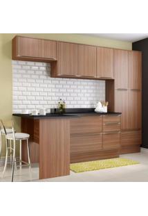 Cozinha Completa 8 Módulos 11 Portas Calábria Multimóveis Nogueira