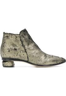 Officine Creative Ankle Boot 'Soizic' Metálica De Couro - Cinza