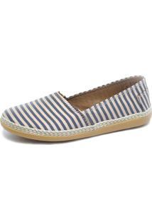 Alpargata S2 Shoes Lona Listrada Rosa E Cinza