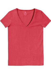 Camiseta Hering 02Tq Rvt-Vermelho