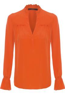 Camisa Feminina Agatha - Laranja