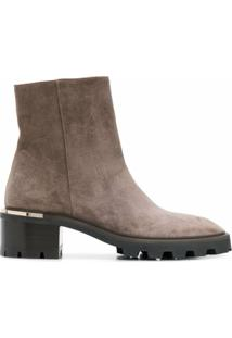 Jimmy Choo Bota Melodie Com Salto 35Mm - Marrom