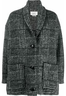 Isabel Marant Étoile Blazer Oversized De Tweed - Preto