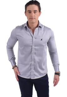 Camisa Social Horus Slim Prata 300205