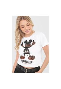 Camiseta Cativa Disney Unexpected Mickey Branca