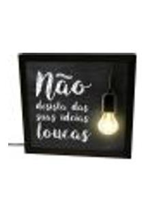 Luminária Prolab Gift Lightbox Ideias Loucas Preta