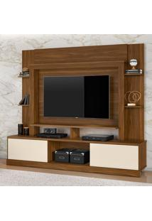 Estante Para Home Theater E Tv Até 55 Polegadas Miami Freijõ E Off White