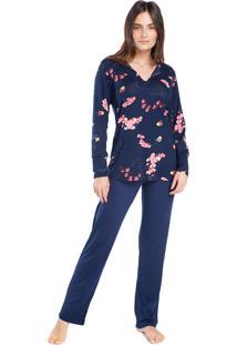 Pijama Feminino De Inverno Italy Garden - Kanui