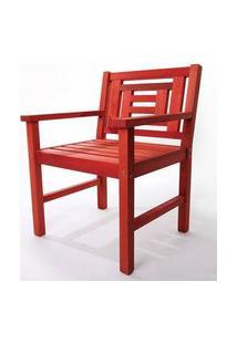Poltrona De Madeira Echoes 1 Lugar Vermelho 61Cm - 61555 Vermelho