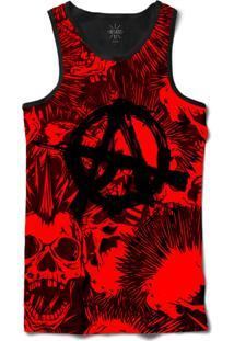 cd89156e60d19 ... Camiseta Insane 10 Regata Ak47 Anarquista Sublimada Preto Vermelho