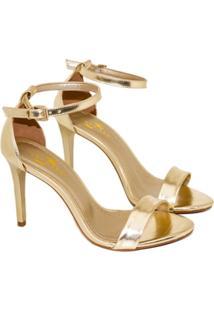 Sandalias Saltare 581.3474-Ru Dourado 39 - Feminino