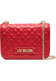 Love Moschino Quilted Shoulder Bag - Vermelho