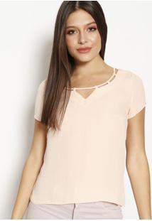 Blusa Lisa Com Tira - Rosa Claromoiselle