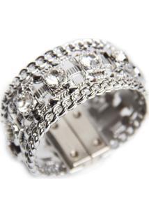 Bracelete Pravage Tpu Prata Com Pedras