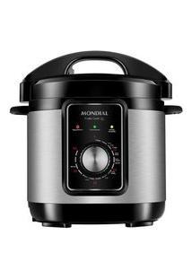 Panela De Pressão Elétrica Mondial Pratic Cook, 3L, 110V, Preto/Inox - Pe-47-3L-I
