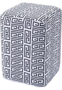 Puff Box Cashier Labirinto Retangular 46 Cm (Alt) - 50750 Sun House