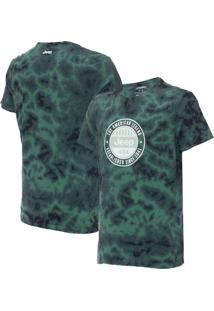 Camiseta Jeep Round Tie-Dye Verde