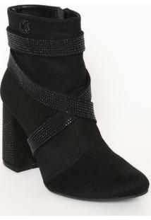 Ankle Boot Com Termocolantes- Preta- Salto: 9,5Cmcarmen Steffens