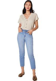 Calça Jeans Slim Com Fivela