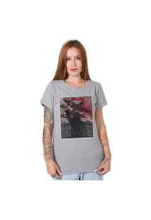 Camiseta Red Smoke Cinza Stoned