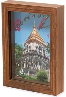 Porta Retrato Em Madeira Caixa Liso 15X10Cm Natural