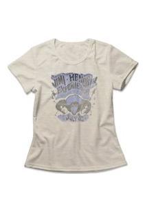 Camiseta Feminina Jimi Hendrix Experience Bege
