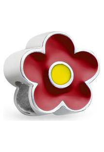 Pingente Life Flor Vermelha