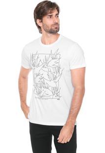 Camiseta Forum Estampada Branca