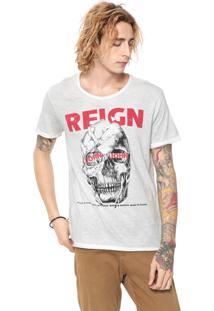 Camiseta John John Skull Reign Off-White