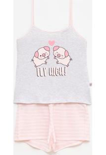 Pijama De Alcinha Estampa Porquinho