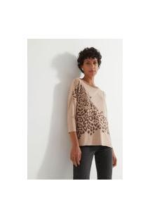 Blusa Com Estampa Tigre | Marfinno | Rosa | M