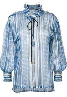 Philosophy Di Lorenzo Serafini Tie Neck Blouse - Azul