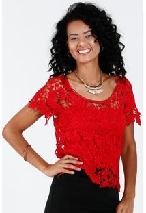 29022657b1 ... Blusa Feminina Renda Guipir Vazado Marisa