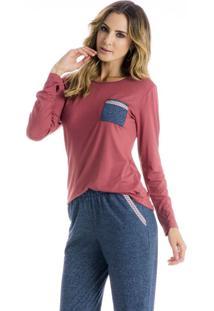 Pijama Safira Longo C/Bolso