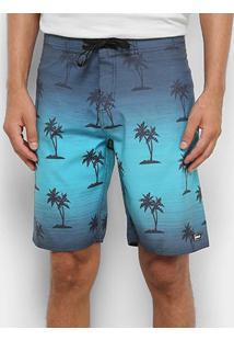 Boardshort Mood Basic - Masculino - Masculino-Azul Turquesa+Azul Claro
