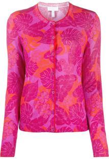 Escada Sport Floral Print Cardigan - Rosa