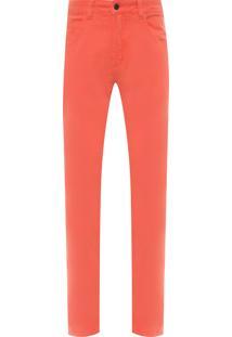 Calça Masculina Fit Color - Laranja