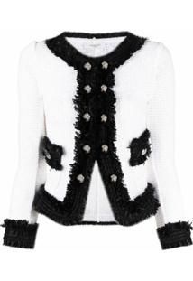 Charlott Decorative-Button Jacket - Branco