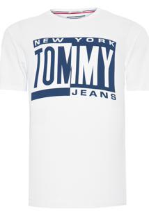 Camiseta Masculina Box Logo - Branco