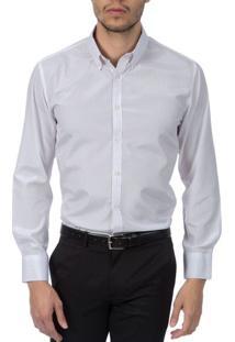 Camisa Social Masculina Lilás Listrada - 04